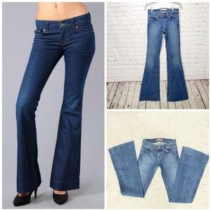 J Brand blue washed bell botton denim jeans  25